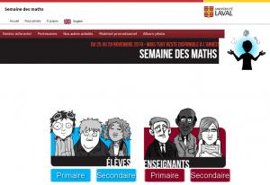 Image du site Web Semaine des maths (Université Laval)